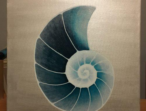Logo Mieke Lannoey op doek