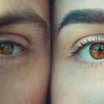 person's eyes
